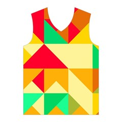 Retro colors shapes Men s Basketball Tank Top