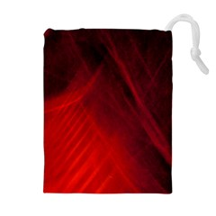 Red Abstract Drawstring Pouches (extra Large)