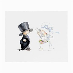 Little Bride And Groom Small Glasses Cloth