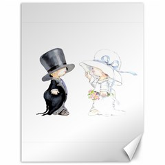 Little Bride And Groom Canvas 12  X 16