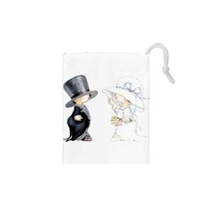 Little Bride and Groom Drawstring Pouches (XS)