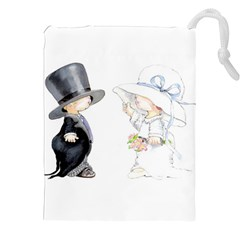 Little Bride and Groom Drawstring Pouches (XXL)