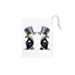 Little Groom and Groom Drawstring Pouches (XS)