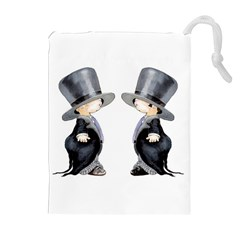 Little Groom and Groom Drawstring Pouches (Extra Large)