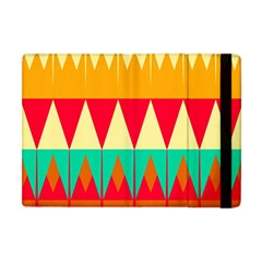 Triangles And Other Retro Colors Shapes 			apple Ipad Mini Flip Case