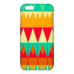 Triangles and other retro colors shapes 			iPhone 6/6S TPU Case