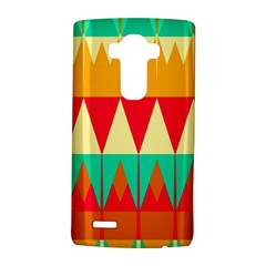 Triangles and other retro colors shapes LG G4 Hardshell Case