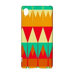 Triangles and other retro colors shapes 			Sony Xperia Z3+ Hardshell Case