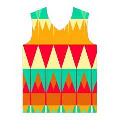 Triangles and other retro colors shapes Men s Basketball Tank Top