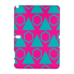 Triangles And Honeycombs Pattern samsung Galaxy Note 10 1 (p600) Hardshell Case