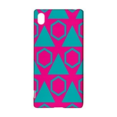 Triangles and honeycombs pattern Sony Xperia Z3+ Hardshell Case