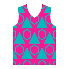 Triangles and honeycombs pattern Men s Basketball Tank Top