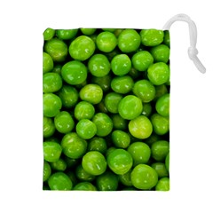 Peas Rule By Ignatius Rake Drawstring Pouches (Extra Large)