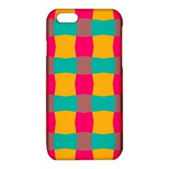 Distorted shapes in retro colors pattern iPhone 6/6S TPU Case