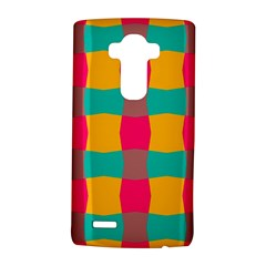 Distorted Shapes In Retro Colors Pattern 			lg G4 Hardshell Case