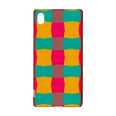 Distorted shapes in retro colors pattern 			Sony Xperia Z3+ Hardshell Case