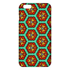 Red Flowers Pattern 			iphone 6 Plus/6s Plus Tpu Case