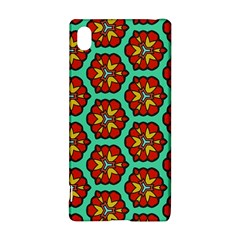 Red flowers pattern Sony Xperia Z3+ Hardshell Case