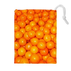 Oranges By Sandi Drawstring Pouches (Extra Large)
