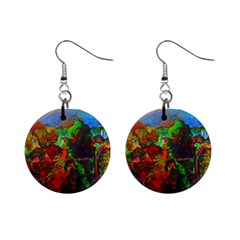 Chicago Park Painting Mini Button Earrings
