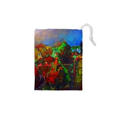Chicago Park Painting Drawstring Pouches (XS)