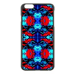Red Black Blue Art Pattern Abstract Apple Iphone 6 Plus/6s Plus Black Enamel Case