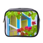 Colored Flowers In Front Ot Windows House Print Mini Toiletries Bag 2-Side Front