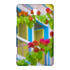 Colored Flowers In Front Ot Windows House Print Samsung Galaxy Tab S (8 4 ) Hardshell Case