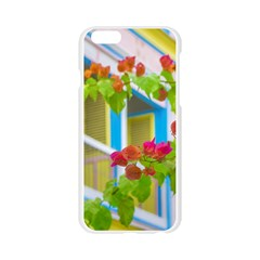 Colored Flowers In Front Ot Windows House Print Apple Seamless iPhone 6/6S Case (Transparent)