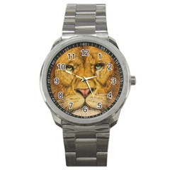 Regal Lion Drawing Sport Metal Watches