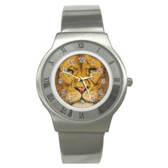 Regal Lion Drawing Stainless Steel Watches