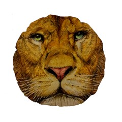 Regal Lion Drawing Standard 15  Premium Round Cushions