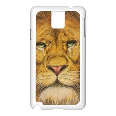 Regal Lion Drawing Samsung Galaxy Note 3 N9005 Case (white)