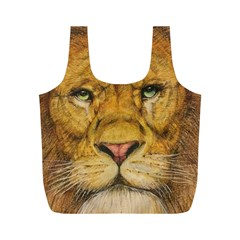 Regal Lion Drawing Full Print Recycle Bags (m)