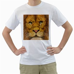 Regal Lion Drawing Men s T Shirt (white)
