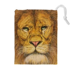 Regal Lion Drawing Drawstring Pouches (extra Large)