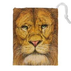 Regal Lion Drawing Drawstring Pouches (XXL)