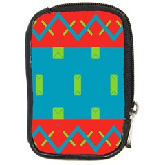 Chevrons And Rectangles 			compact Camera Leather Case