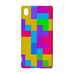 Colorful tetris shapes 			Sony Xperia Z3+ Hardshell Case