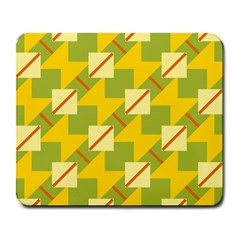 Squares And Stripes large Mousepad