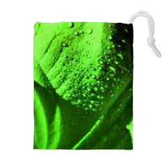 Green And Powerful Drawstring Pouches (Extra Large)