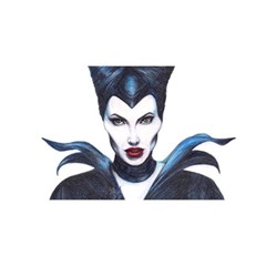 Maleficent Drawing You Are Invited 3d Greeting Card (8x4)