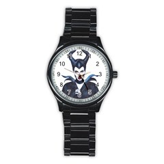Maleficent Drawing Stainless Steel Round Watches