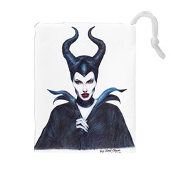 Maleficent Drawing Drawstring Pouches (Extra Large)