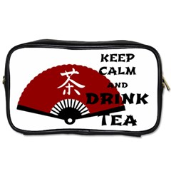 keep calm and drink tea - asia edition Toiletries Bags 2-Side