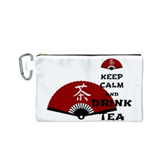 keep calm and drink tea - asia edition Canvas Cosmetic Bag (S)