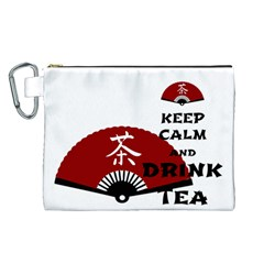 keep calm and drink tea - asia edition Canvas Cosmetic Bag (L)
