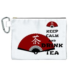 keep calm and drink tea - asia edition Canvas Cosmetic Bag (XL)