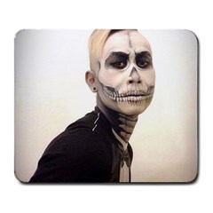 Halloween Skull And Tux  Large Mousepads
