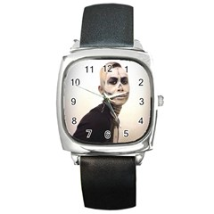 Halloween Skull And Tux  Square Metal Watches